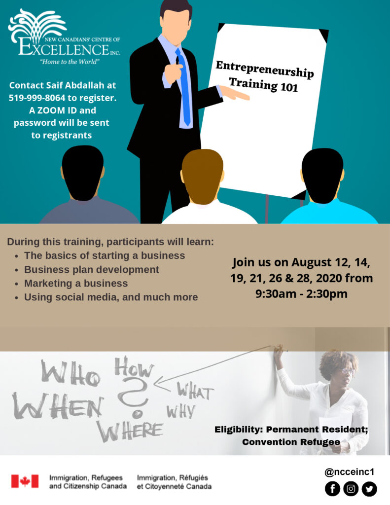 Entrepreneurship Training 101 (Adults and Youth) – 2 Sessions