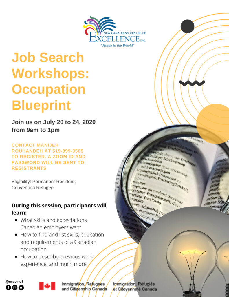 Job Search Workshops Module 1 – Occupation Blueprint