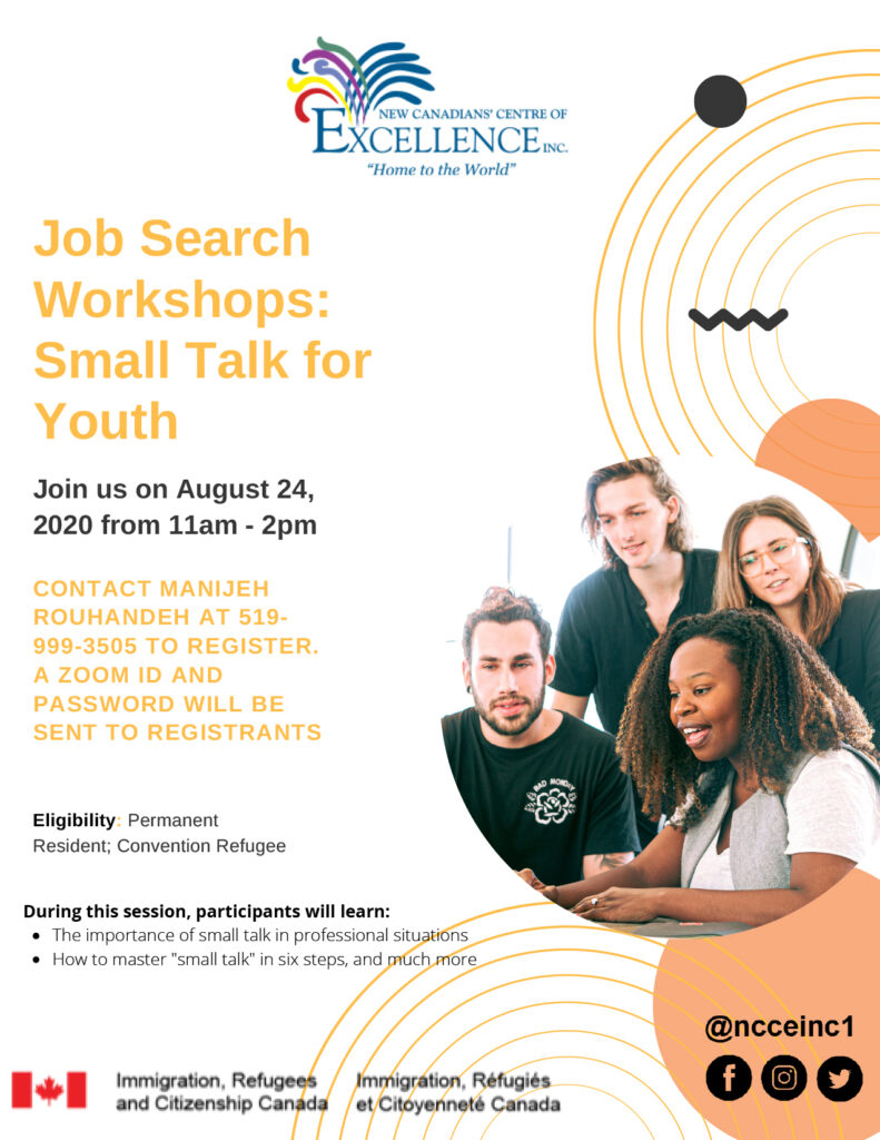Job Search Workshops Small Talk_For Youth