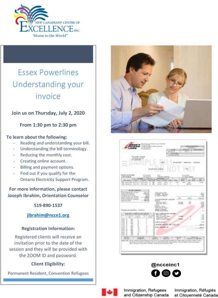 Understanding Your Utilities' Invoices Series (Essex Powerlines and Ontario Electricity Support Program)