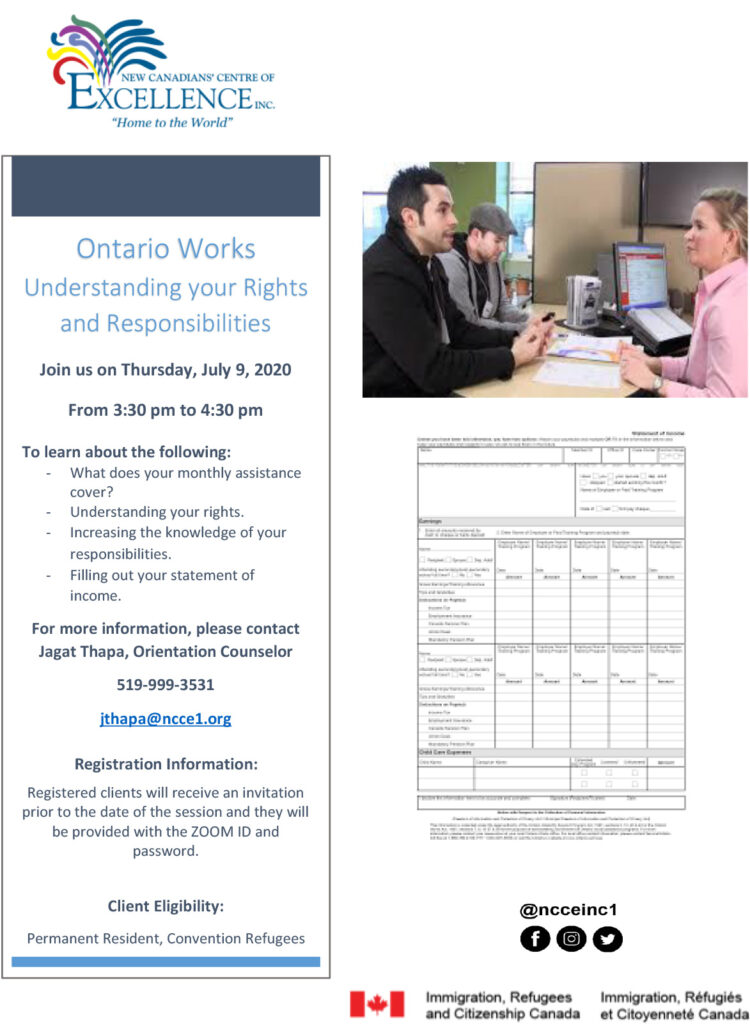 Ontario Works (Rights and Responsibilities)
