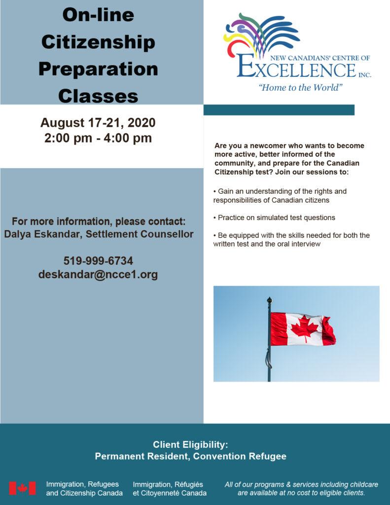 online citizenship prep classes