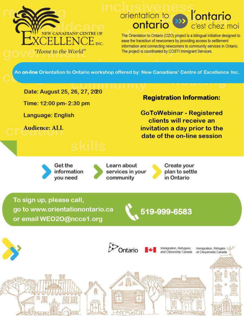 Orientation to Ontario - English