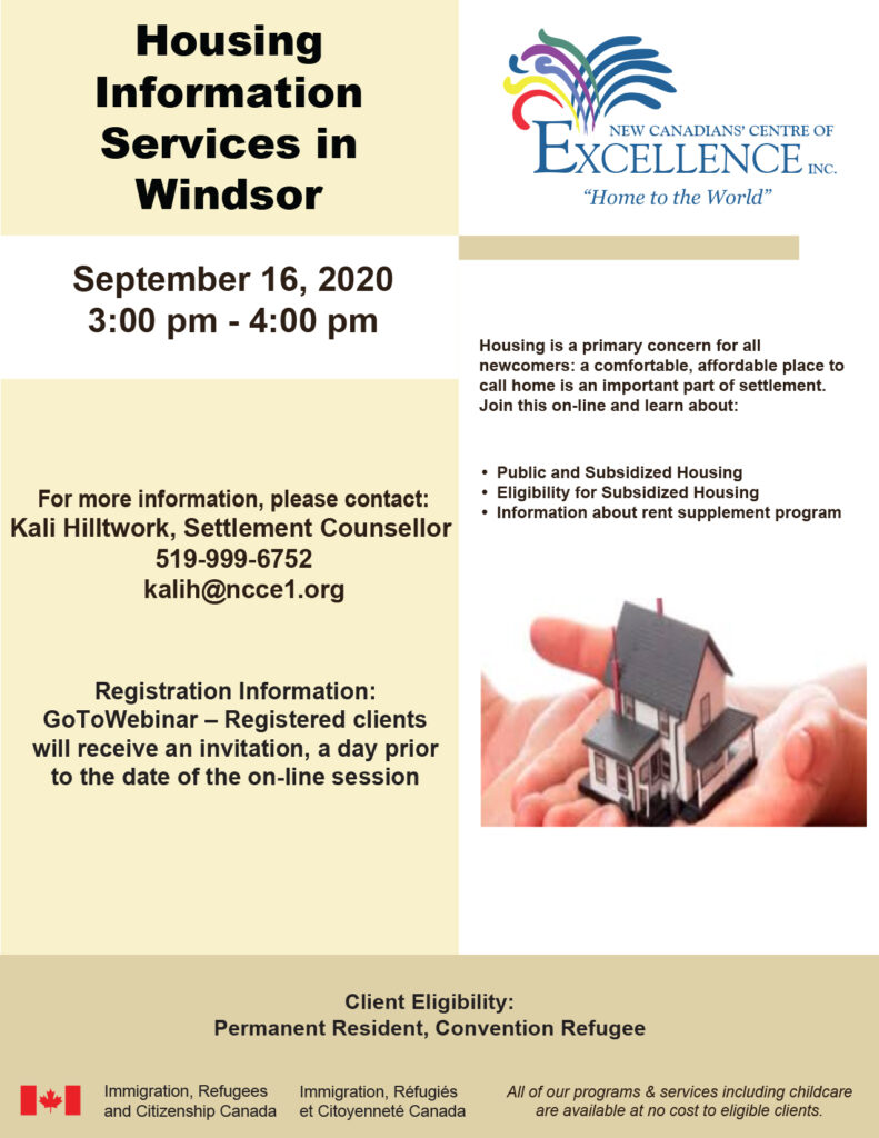 Housing Information Services in Windsor