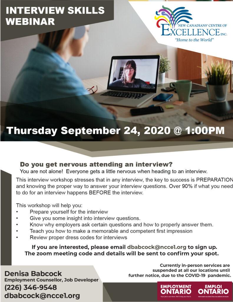 Employment Ontario-Interview Skills Webinar