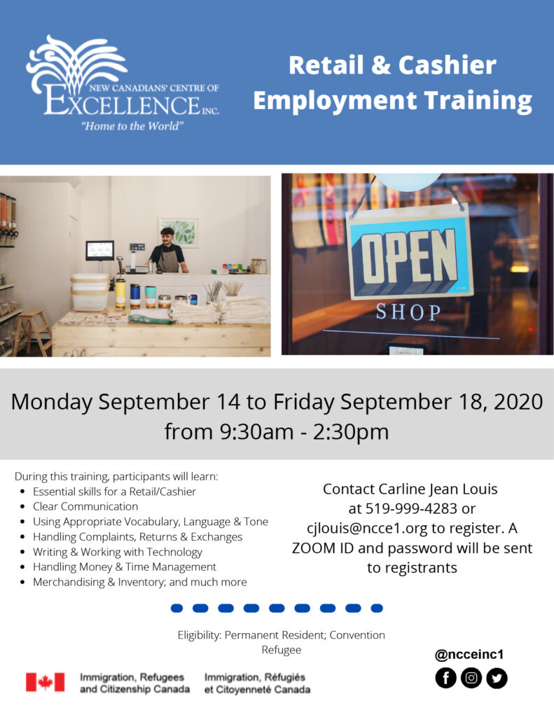 Retail and Cashier Employment Training