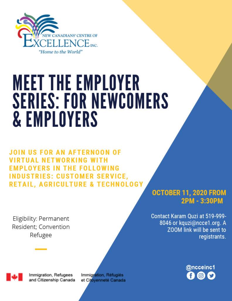 Meet the employer series - meet and match October 11 2020
