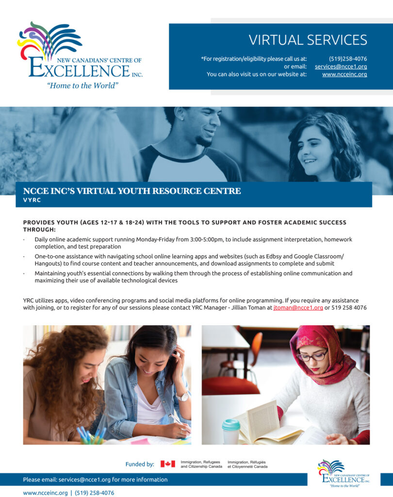 YRC Online Academic Support