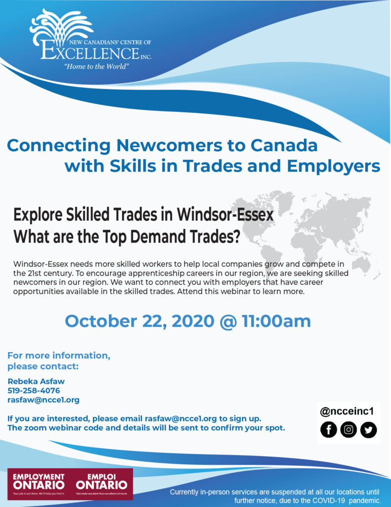 Connecting Newcomers to Canada with Skills and Trades
