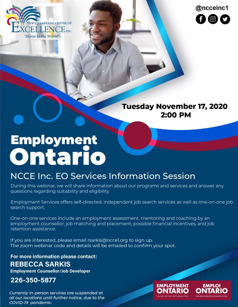 NCCE Inc. EO Services Information Session