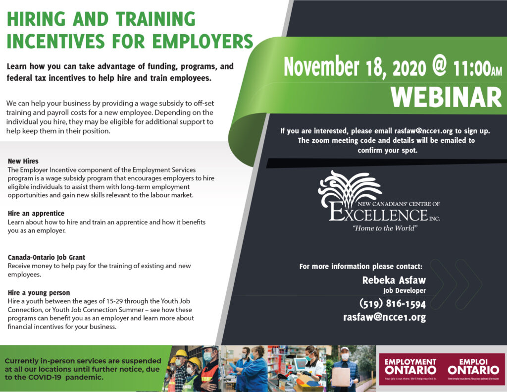 Hiring and Training Incentives for Employers
