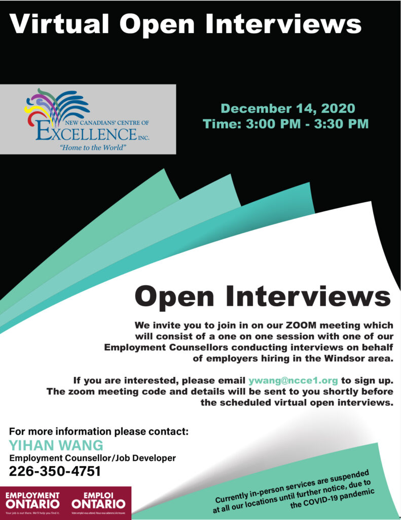 Virtual Open Interviews