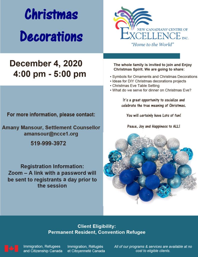 Christmas Decorations - Dec 4 Flyer