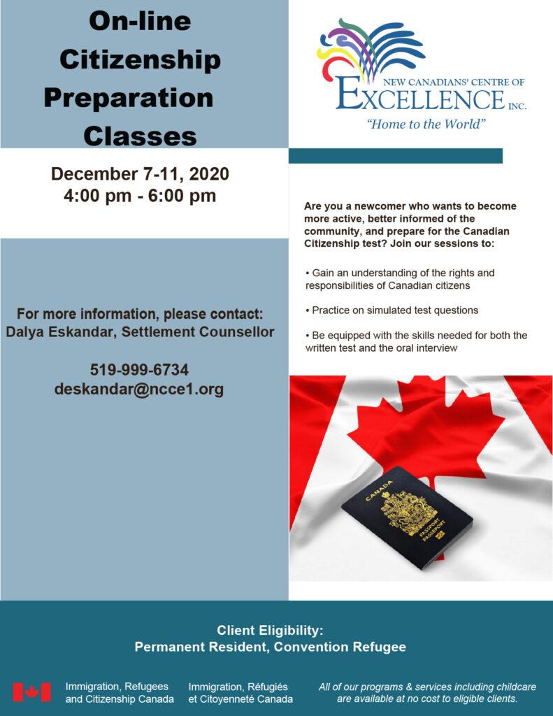 Online citizenship preparation class - December 2020