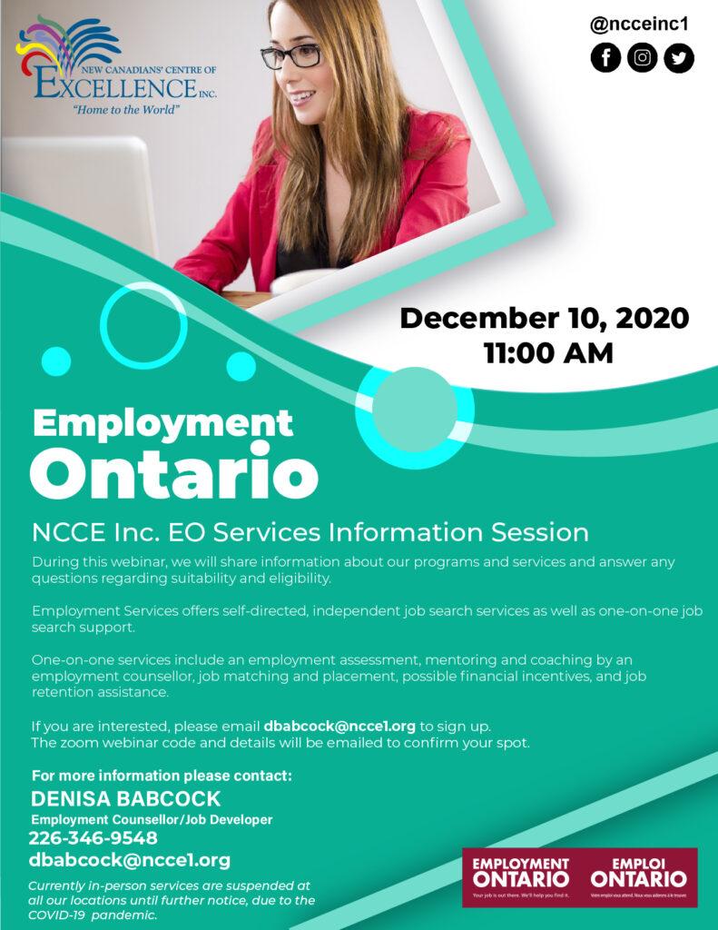 Employment Ontario Services - Dec 10, 2020