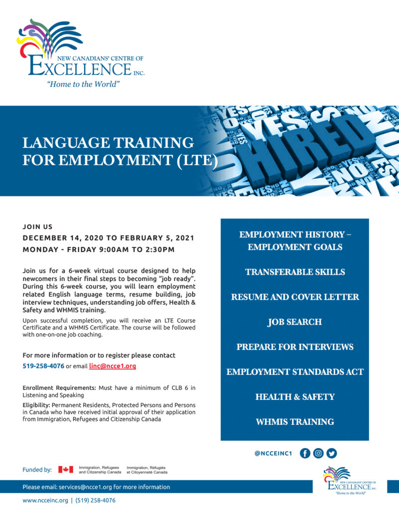NCCE LTE Language Training