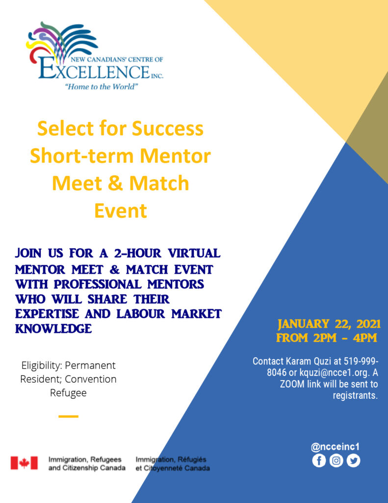 Select for Success Short-term Mentor Meet & Match Event