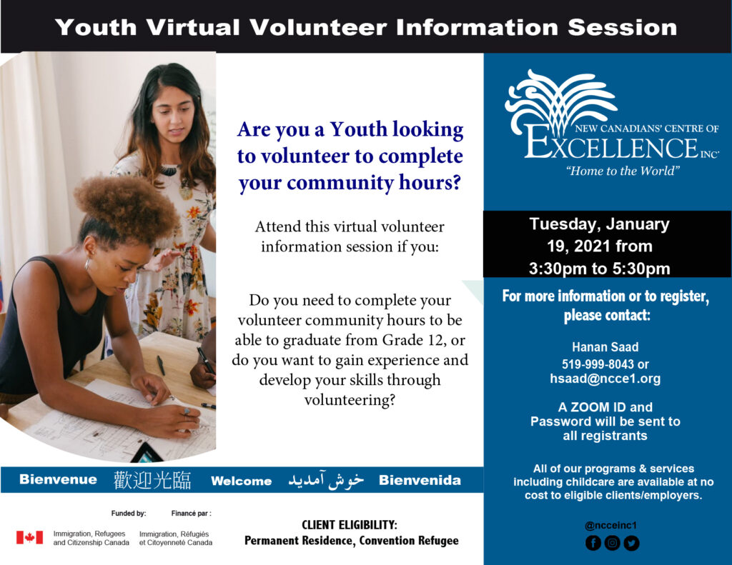 Youth Viral Volunteer Information Session