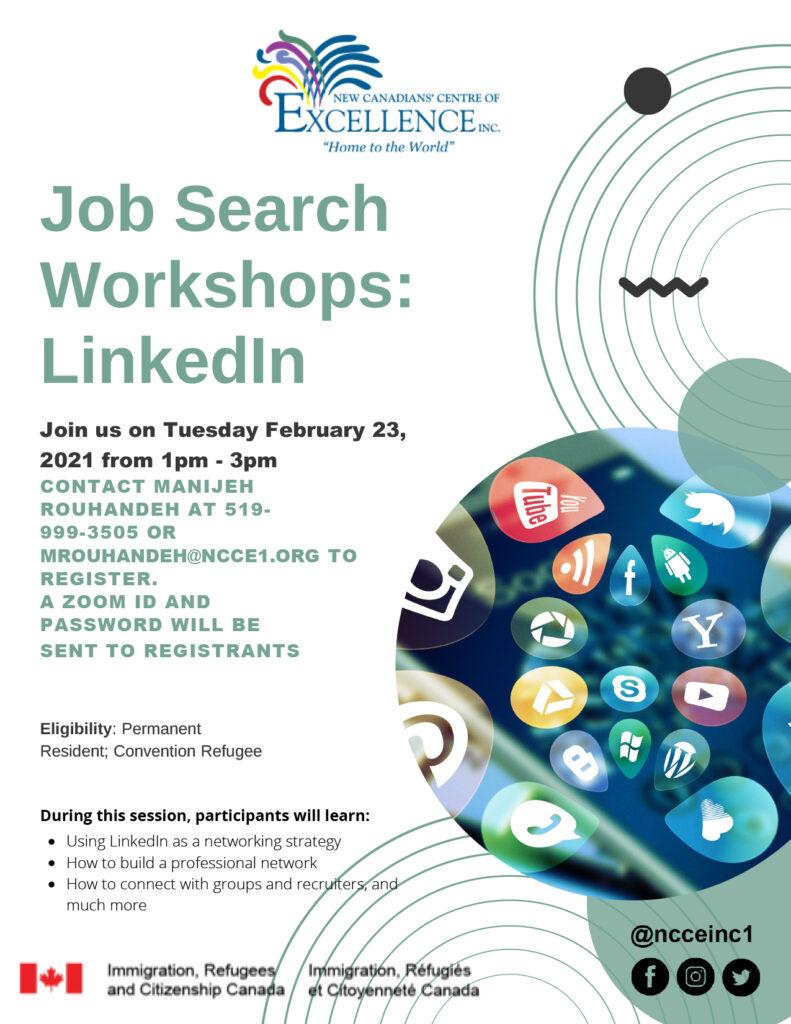 Job Search Workshops: A La Carte: LinkedIn