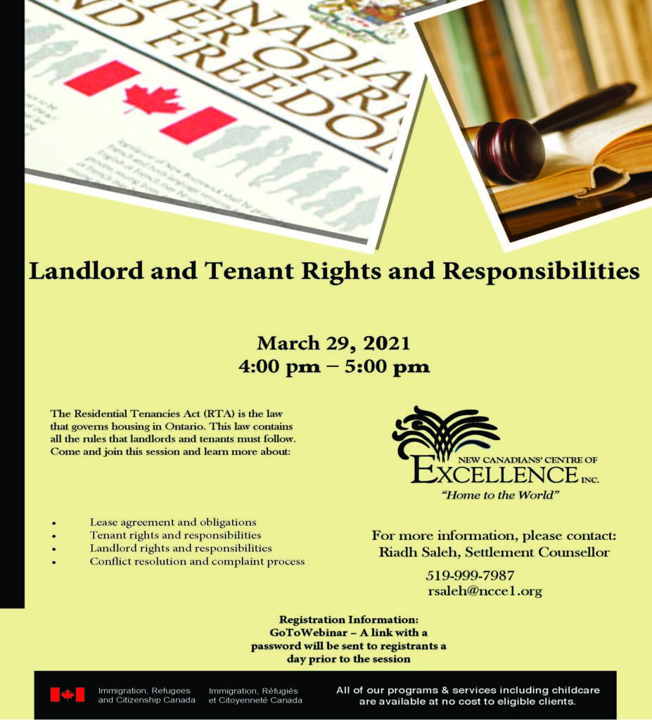 Tenant and Landlord Rights and Responsibilities