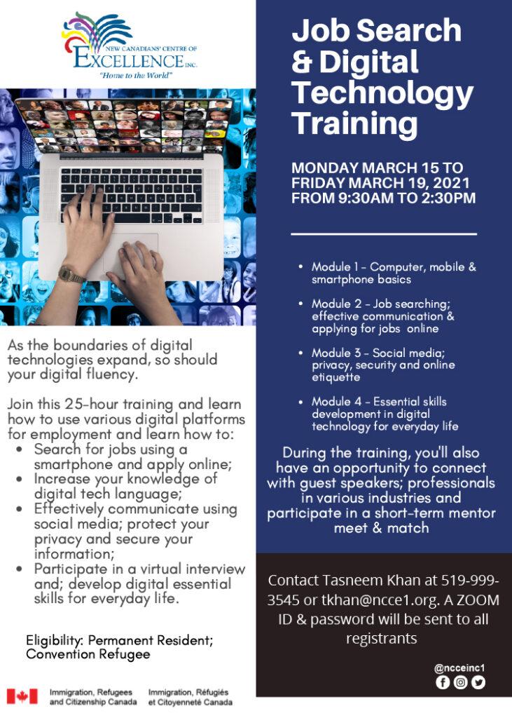 Job Search & Digital Technology Training