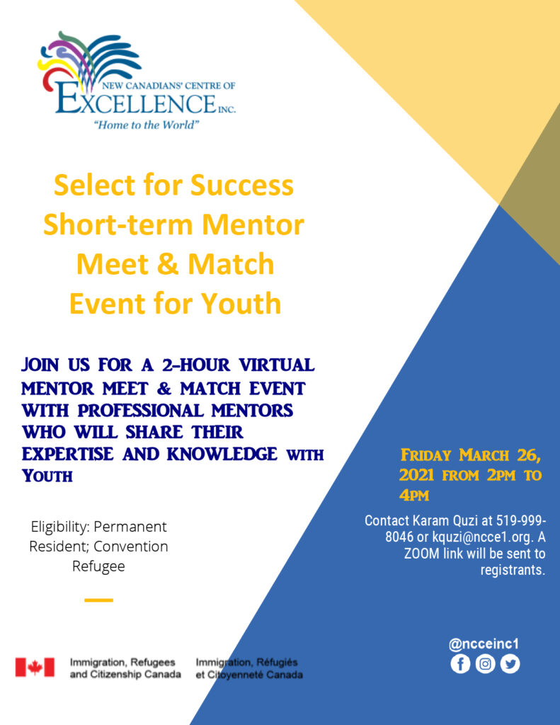 Short Term Mentor Match Event
