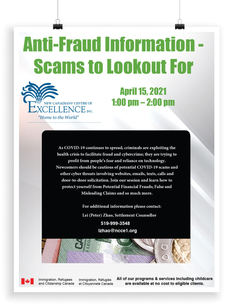 Anti-Fraud and Scams to look out for