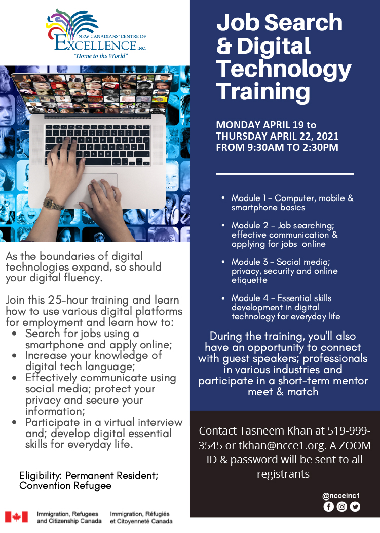 Job Search & Digital Technology Training