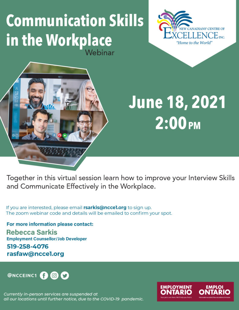 Communication Skills and the Workplace: A Guide to Improve Your Employment and Interview Skills