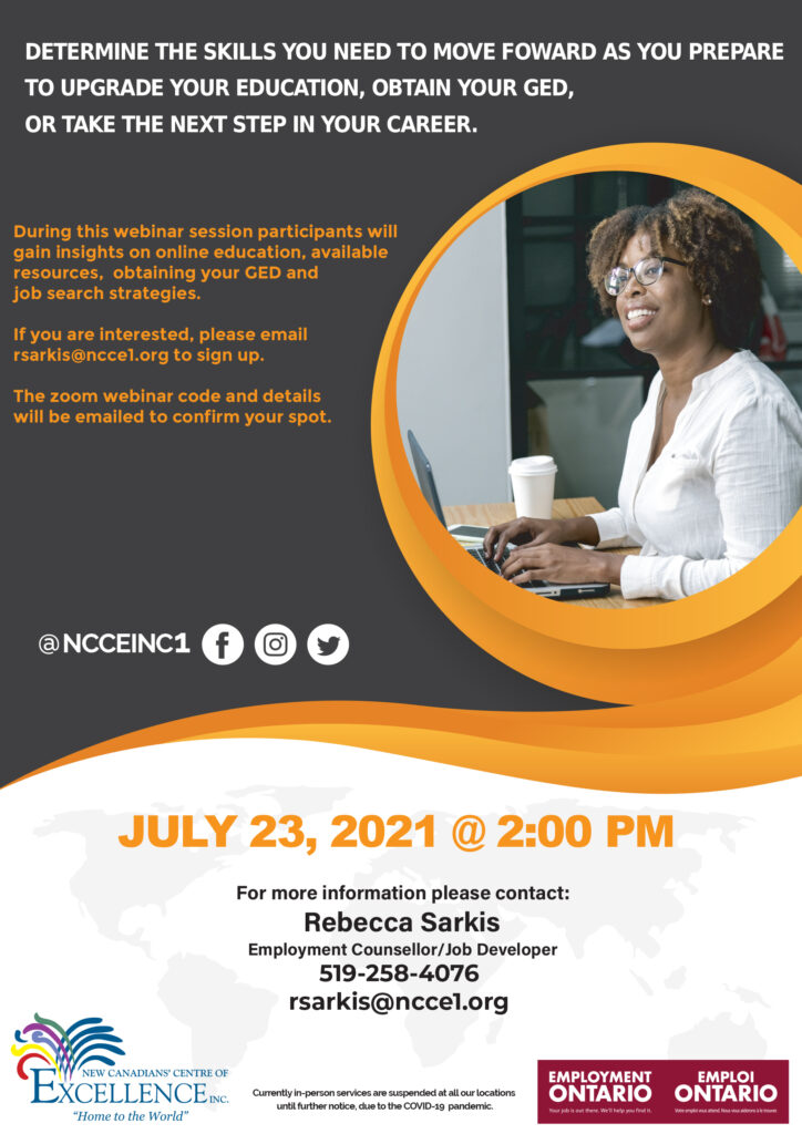EO Information Session: Referrals to GED, Online Education Resources and Online Job Search Resources