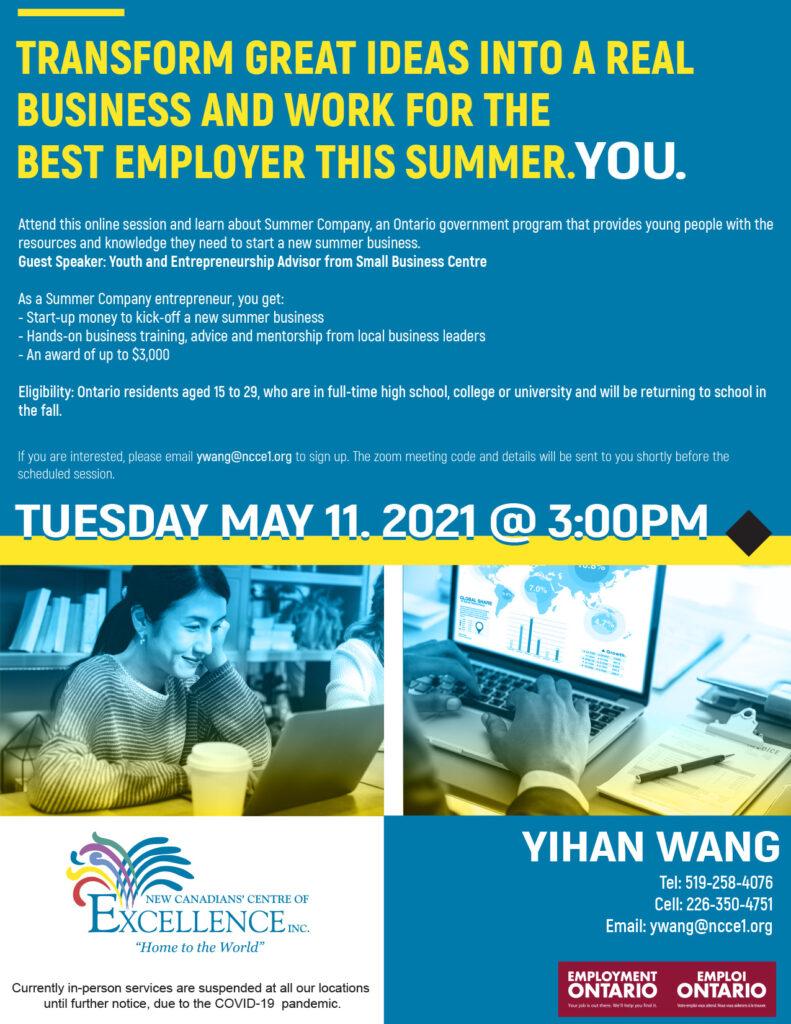Summer Company and Entrepreneurship