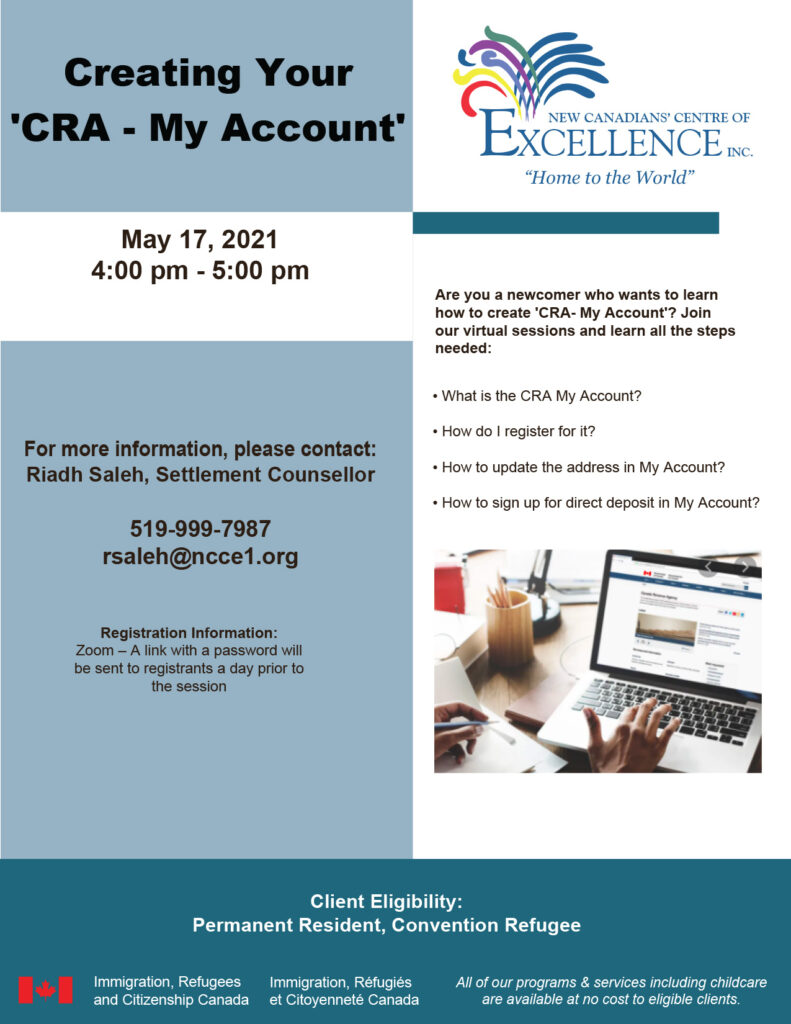 Creating Your 'CRA - My Account'