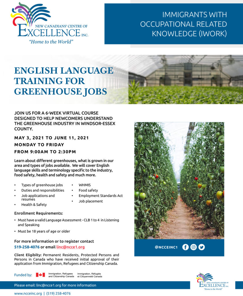 English Language Training for Greenhouse Jobs