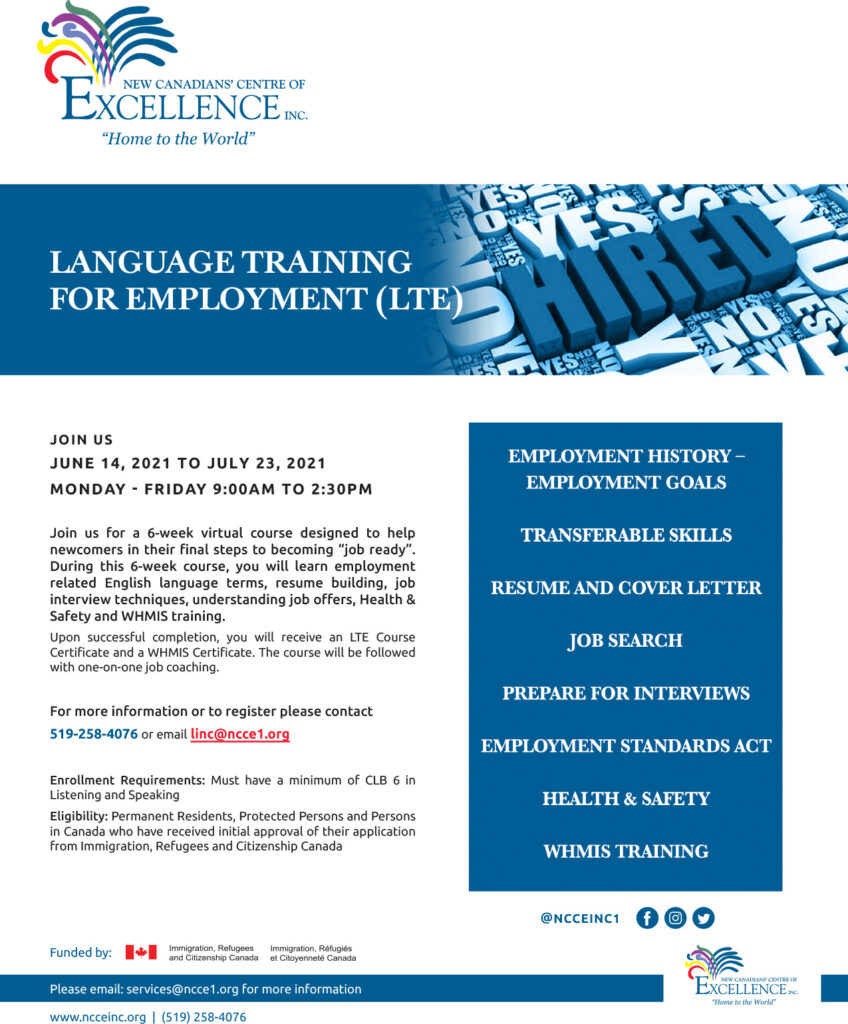 Language Training for Employment (LTE)