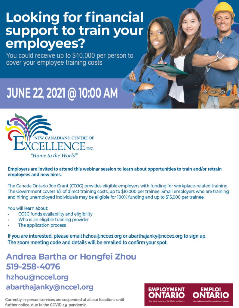 Looking for financial support to train your employees