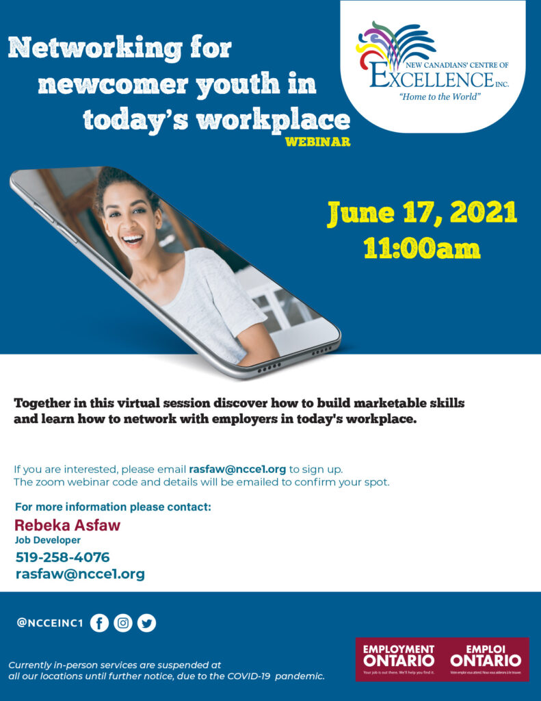 Networking for Newcomer Youth in Today's Workplace