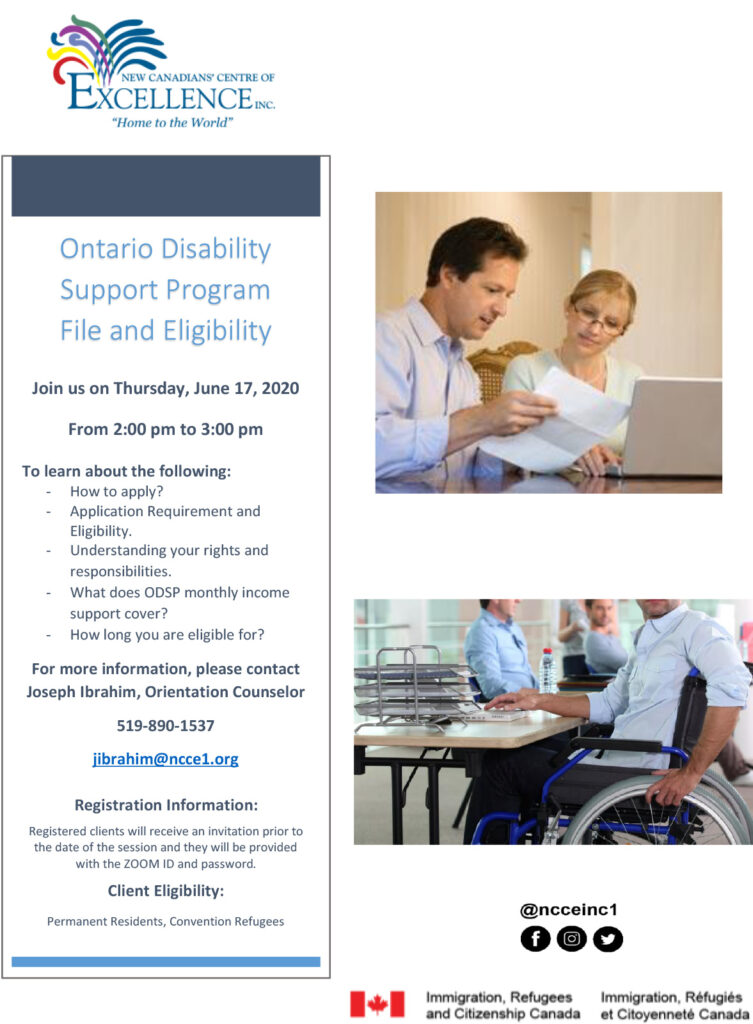 Ontario Disability Support Program File and Eligibility