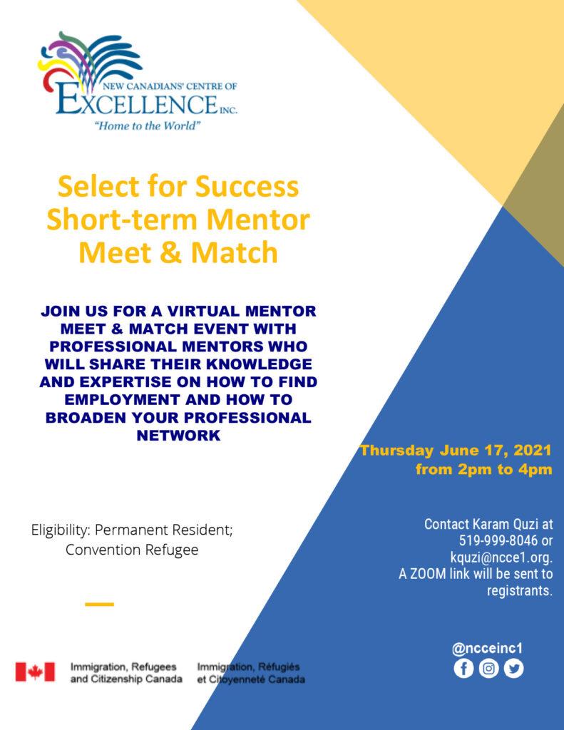 Select for Success Short-term Mentor Meet & Match