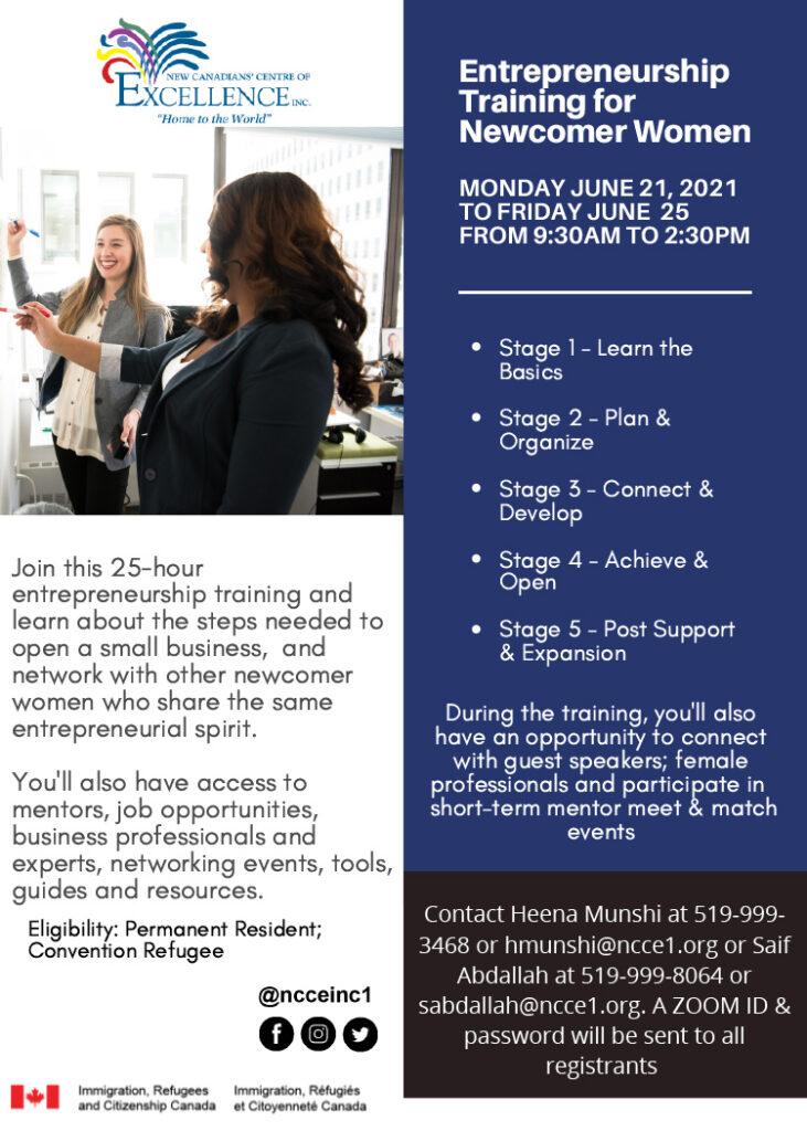 Entrepreneurship Training for Newcomer Women