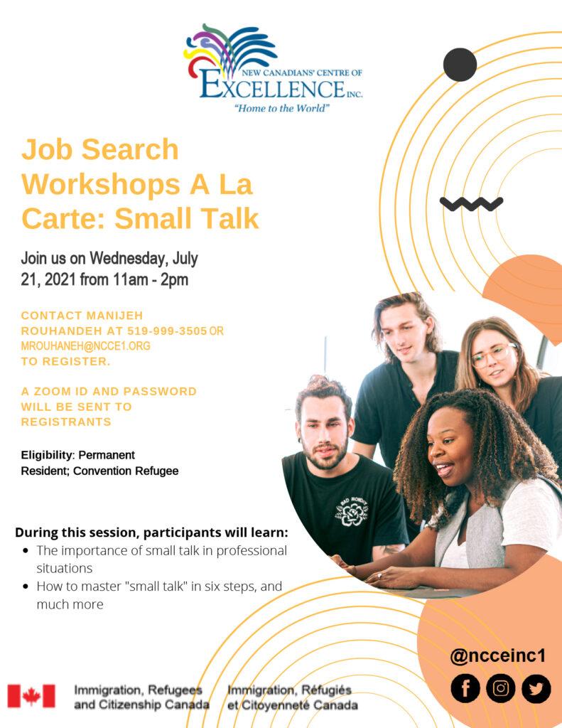 Job Search Workshops Small Talk