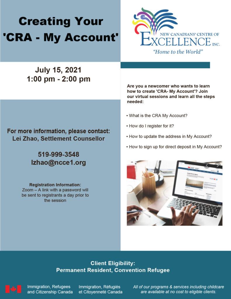 Creating CRA My Account