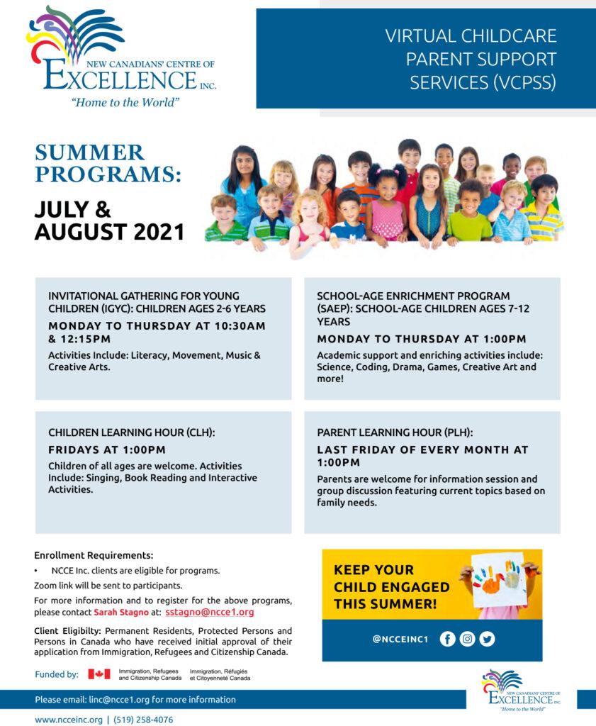 VCPSS Summer Programs