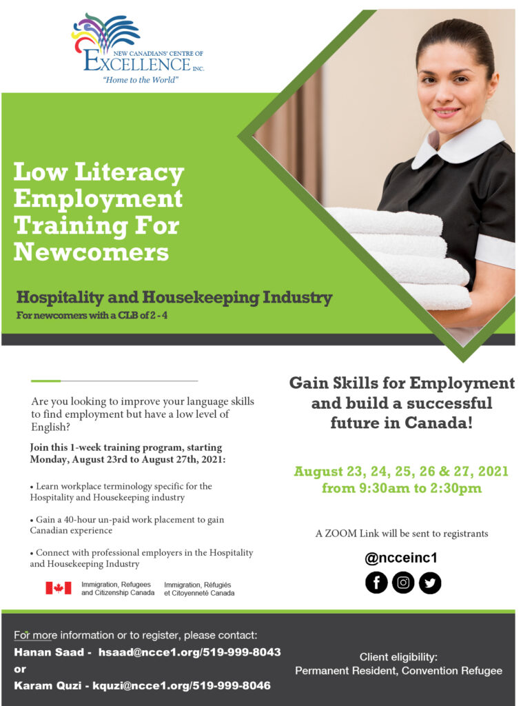 Low Literacy Employment Training for Newcomers