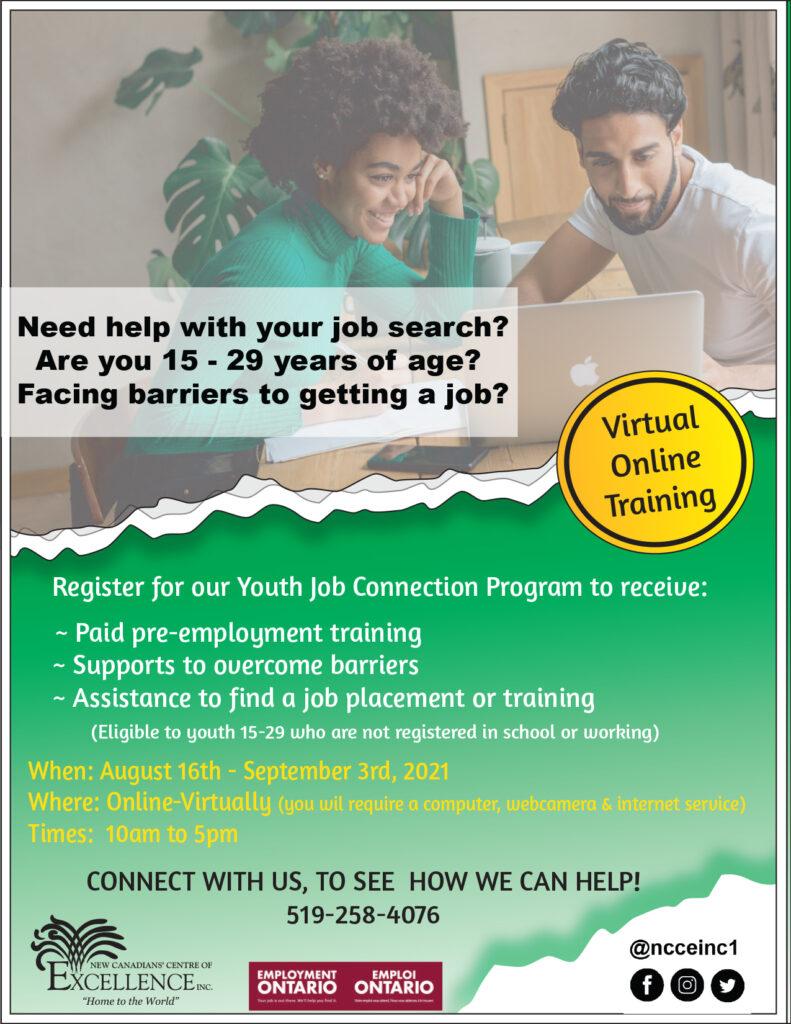 Youth Job Connection Program Virtual