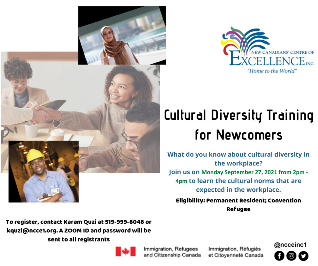 Cultural Diversity For Newcomers