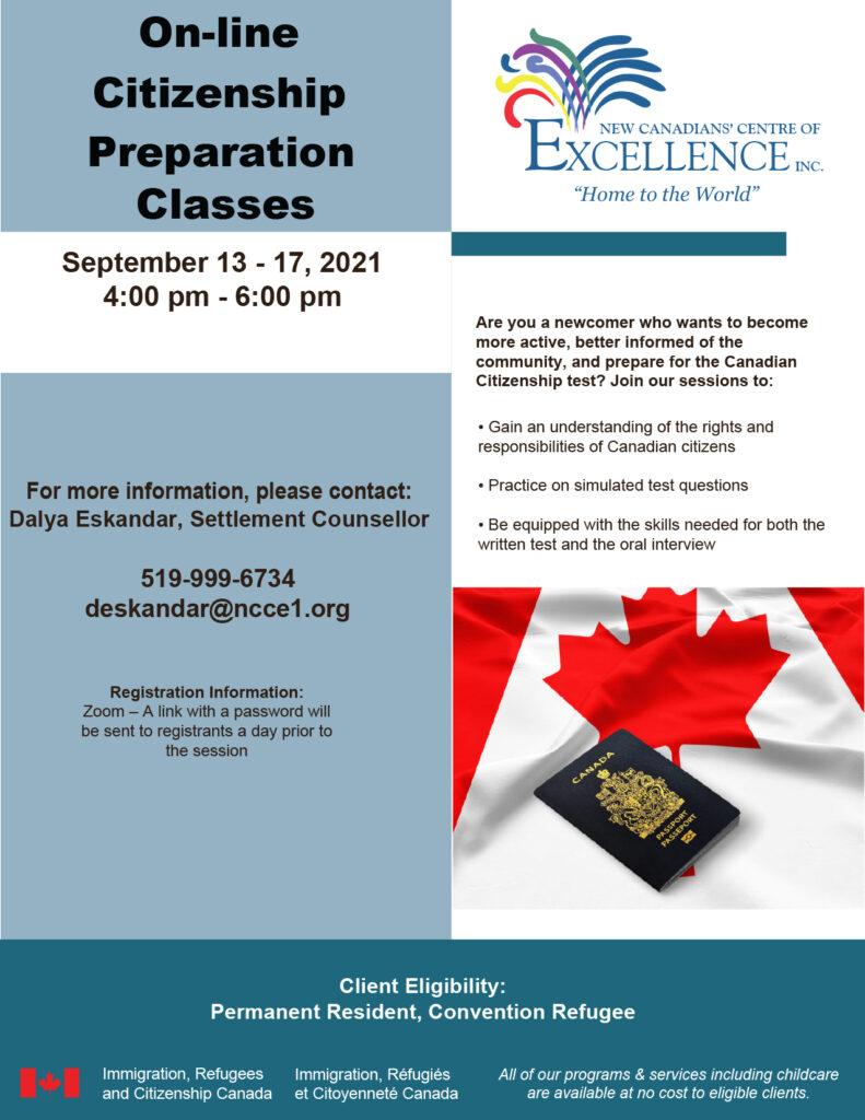 Citizenship Preparation Classes