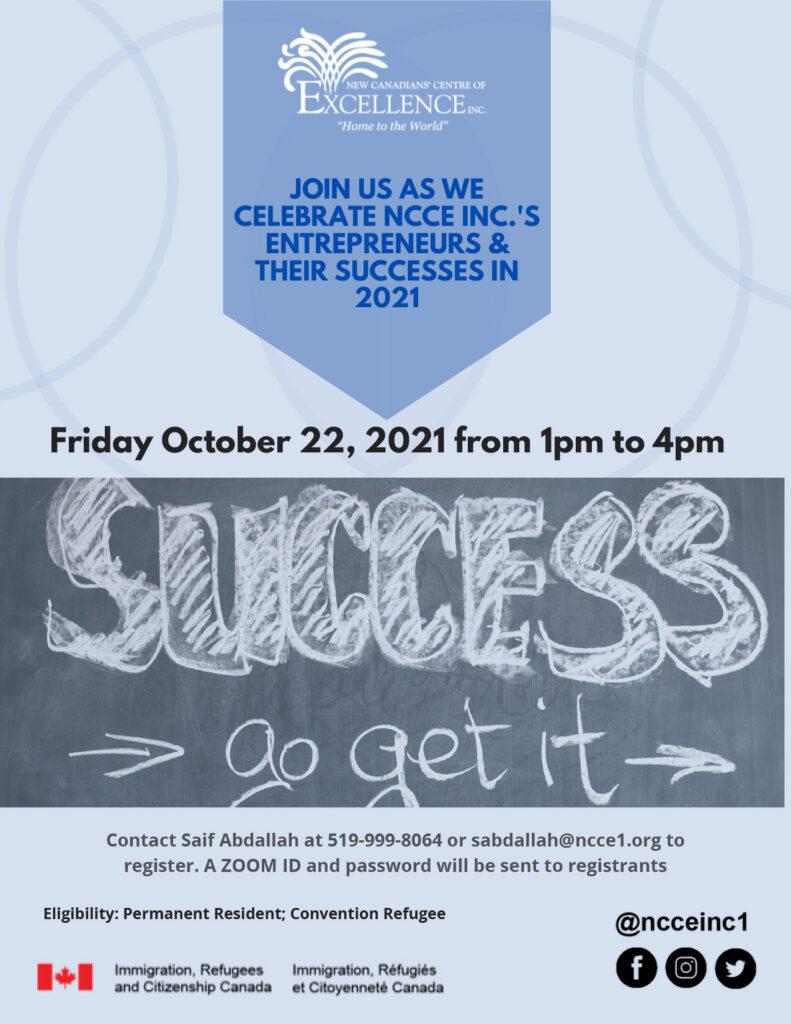 Celebrate NCCE Inc's Entrepreneurs