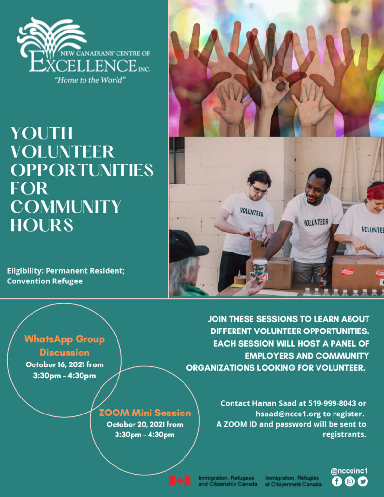 Youth Volunteer Opportunities for Community Hours